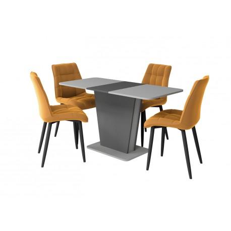 thumb Стол обеденный Cosmo Grey 110(145)x68 см Антрацит / Серый Камень 8