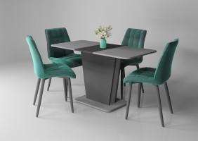 Стол обеденный Cosmo Grey 110(145)x68 см Антрацит / Серый Камень (COSMO_GREY)