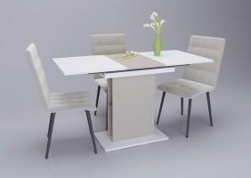 Стол обеденный Intarsio Stoun 100(135)x60 см Белая Аляска / Латте