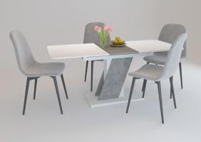 Стол обеденный Carvelo 140(180)x80 Белая Аляска / Индастриал