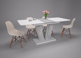 Стол обеденный Torino 140(180)x80 Белая Аляска / Индастриал