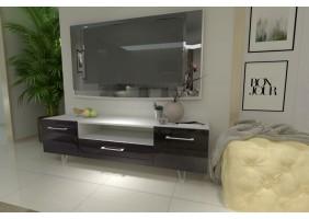 Тумба TV Maggio Белый / Бордово-бронзовый хамелеон