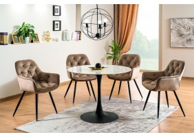 Комплект стол Ontario + стулья Cherry Velvet 4 шт.