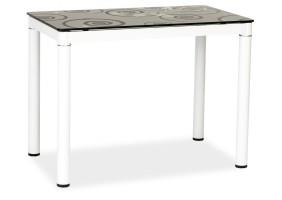 Стол обеденный Damar 100 x 60 см Черно-белый