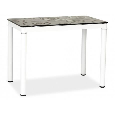 thumb Стол обеденный Damar 100 x 60 см Черно-белый 1