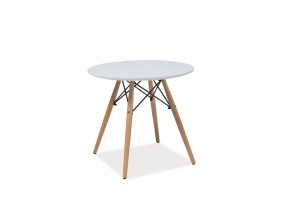 Журнальный стол Soho B Белый /Бук 60X60