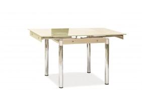 Стол обеденный GD-082 80(131)x80 Крем