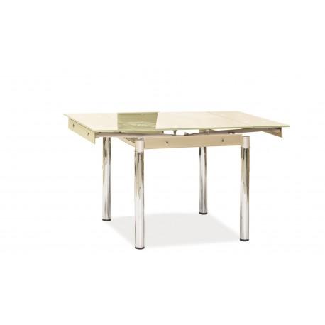 thumb Стол обеденный GD-082 80(131)x80 Крем 1