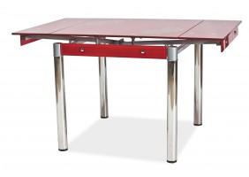 Стол обеденный GD-082 80(131)x80 Красный