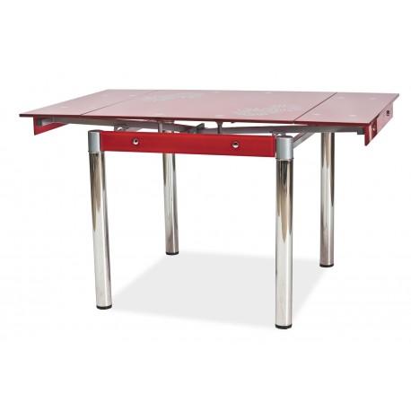 thumb Стол обеденный GD-082 80(131)x80 Красный 1