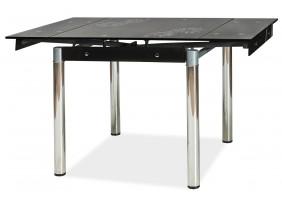 Стол обеденный GD-082 80(131)x80 Черный