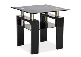 Журнальный стол Lisa D Черный лак 60x60x55