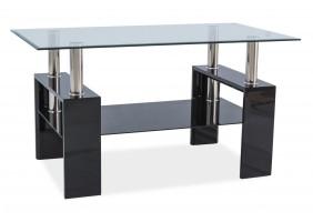 Журнальный стол Lisa III Черный лак 110X60X60