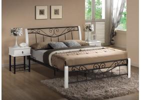 Двуспальная кровать Parma 160X200 Белый / Черный