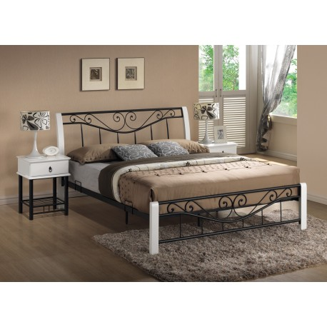 thumb Двуспальная кровать Parma 160X200 Белый / Черный 1