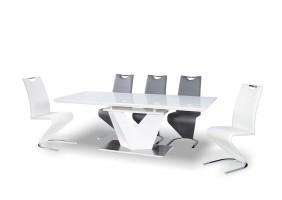 Стол обеденный Alaras III Белый / Белый лак 160(220)X90