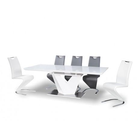 thumb Стол обеденный Alaras III Белый / Белый лак 160(220)X90 1