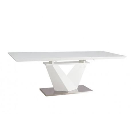 thumb Стол обеденный Alaras III Белый / Белый лак 160(220)X90 2