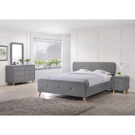 thumb Кровать Malmo 140X200 Серый 1