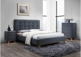 Двуспальная кровать Melissa 160X200 Серый