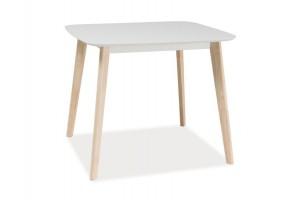 Стол обеденный Tibi Белый/Дуб беленый 90х80