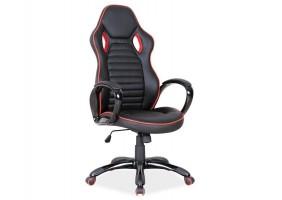 Кресло Q-105 Черный/Красная окантовка