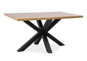Стол обеденный Cross Дуб/Черный 180х90