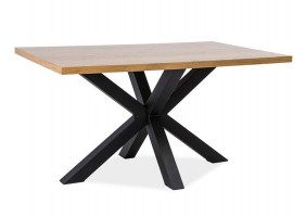Стол обеденный Cross Дуб/Черный 150х90