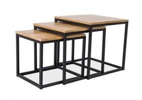 Журнальный стол Trio Дуб/Черный