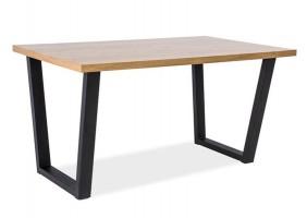 Стол обеденный Valentino Дуб/Черный 180х90