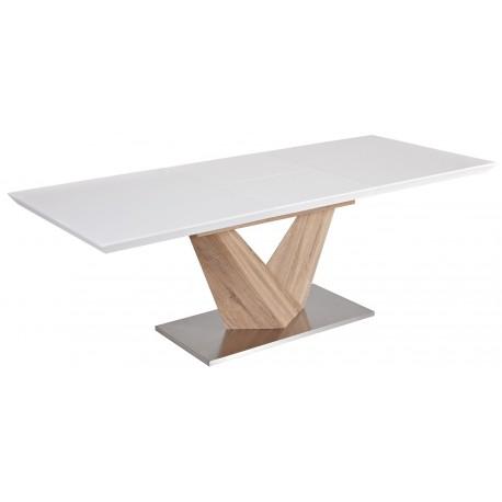 thumb Стол обеденный Alaras Белый лак / Дуб сонома 160(220)X90 2