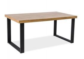 Стол обеденный Umberto Дуб/Черный 150х90