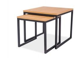 Журнальный стол Largo Duo Дуб/Черный