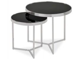 Журнальный стол Delia II Черный/Хром