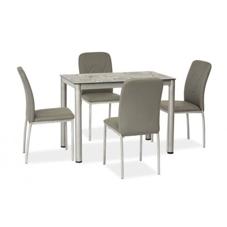 thumb Стол обеденный Damar Серый 80х60 1