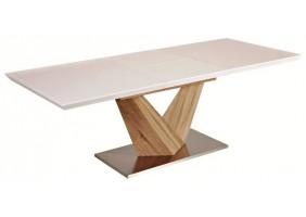Стол обеденный Alaras Белый/Дуб сонома 140(200)х85