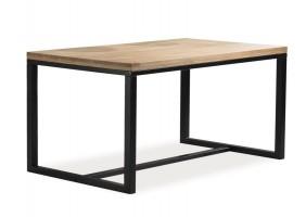 Стол обеденный Loras A Дуб/Черный 180x90