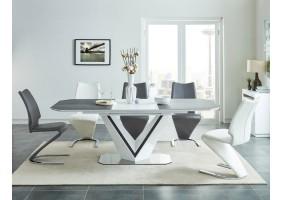Стол обеденный Valerio Ceramic 160(220)X90 Серый/Белый