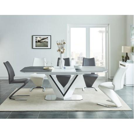 thumb Стол обеденный Valerio Ceramic 160(220)X90 Серый/Белый 1