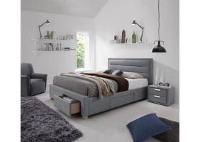 Двуспальная кровать Ines 160X200 Серый