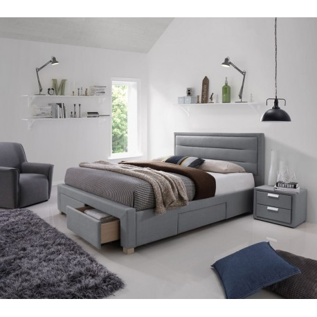 thumb Двуспальная кровать Ines 160X200 Серый 1