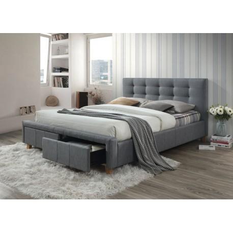 thumb Двуспальная кровать Ascot 160X200 Серый 1
