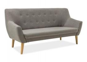Прямой диван Nordic 3 Серый/Бук