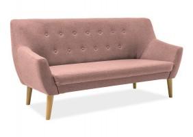 Прямой диван Nordic 3 Розовый/Бук