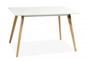 Стол обеденный Milan 120х80 Белый/дуб