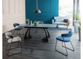 Стол обеденный Martinez Ceramic 160(210)х90 Серый/Черный