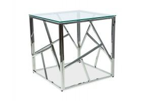 Журнальный стол Escada B 55х55 Прозрачный/Серебряный