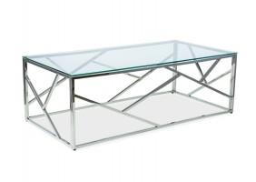 Журнальный стол Escada A 120х60 Прозрачный/Серябряный