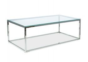 Журнальный стол Hilton A 120х60 Прозрачный/Серебряный