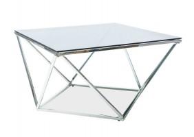 Журнальный стол Silver A Silver A 80х80 Дымчатый/Серебряный